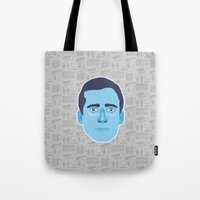 michael scott Tote Bags featuring Michael Scott - The Office by Kuki