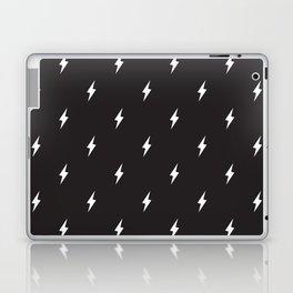 Lightning Bolt Pattern Black & White Laptop & iPad Skin