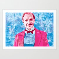 the grand budapest hotel Art Prints featuring The Grand Budapest Hotel by Matthew Brazier Illustration