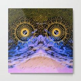 mandala eyes in the sky Metal Print