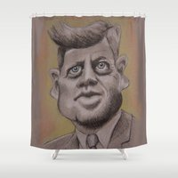 jfk Shower Curtains featuring JFK by chadizms