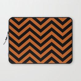 Black and Orange Chevron Pattern Laptop Sleeve