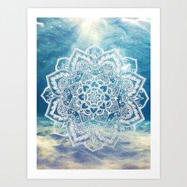 Mandala Underwater Art Print