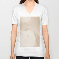 sand V-neck T-shirts featuring sand by  Agostino Lo Coco