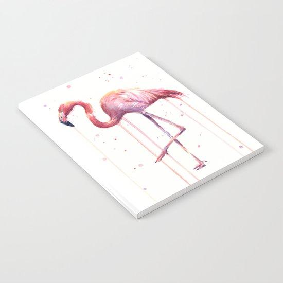 Watercolor Flamingo Notebook