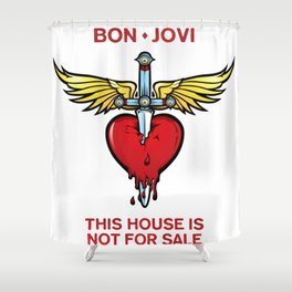 bon jovi this house not for sale logo putro Shower Curtain