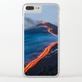 WHEN THE BEACH TURNS RED Clear iPhone Case