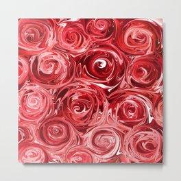Ruby Red Roses Metal Print