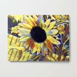 Sunflower After The Storm Metal Print