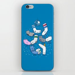 Lost Sock Party iPhone Skin