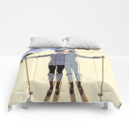George Barbier - hiver (art deco print) Comforters