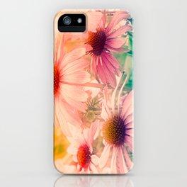 Happy Summerflowers Pastell iPhone Case