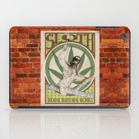 sloth iPad Cases featuring Sloth by PsychoBudgie