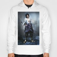 sasuke Hoodies featuring Sasuke real style portrait by Shibuz4