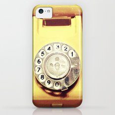 Old yellow phone - for iphone iPhone 5c Slim Case