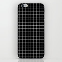 Black Grid iPhone Skin