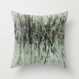 Emerald grass ~ Abstract Throw Pillow