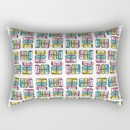 Memphis Style Scribble Abstract Seamless Vector Pattern Rectangular Pillow
