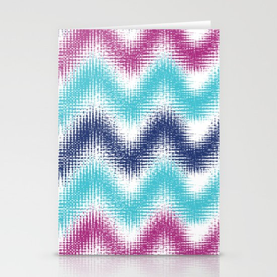 Batik Zig Zag Stationery Cards
