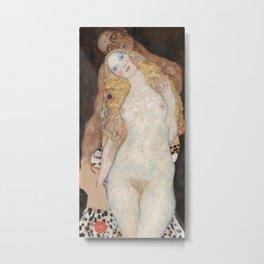 Gustav Klimt - Adam und Eva Metal Print