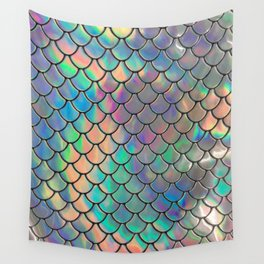 Iridescent Scales Wall Tapestry
