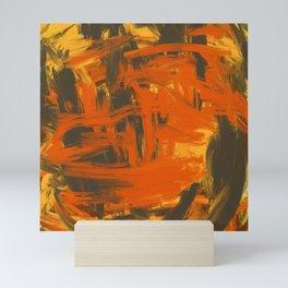 Orange & Olive Abstract Mini Art Print