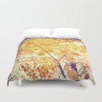 be happy Duvet Covers featuring Happy by Olivia Joy StClaire