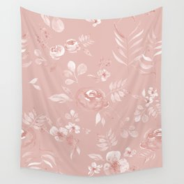 Stephanie Floral - Pink Wall Tapestry
