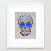 calavera Framed Art Prints featuring Calavera by Jared Bretholtz