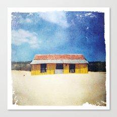 Yellow House - Costa de Caparica Canvas Print