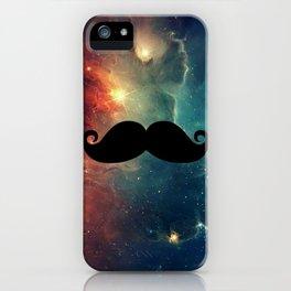 Cosmic Handlebar Mustache iPhone Case