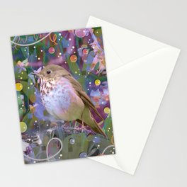 Magical Little Bird (Hermit Thrush) Stationery Cards