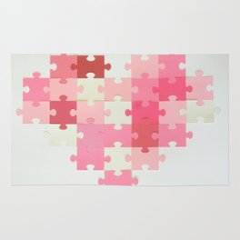 Puzzled Heart Rug