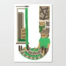 U as Urbaniste (Town planner) Canvas Print