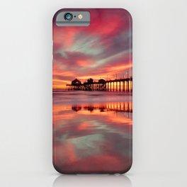 Huntington Beach Sunset  ~ 1/15 iPhone Case