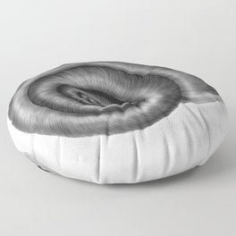 Snail shell, painted with graphite Floor Pillow