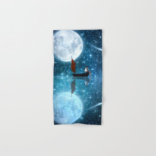 The Moon and Me v2 Hand & Bath Towel