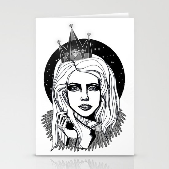 Queen of the night Stationery Cards