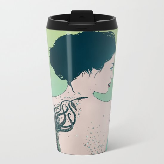 Tattooed Lady Update Metal Travel Mug