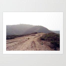 Dusty Mountain View Art Print