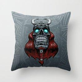 Valhalla Awaits Throw Pillow