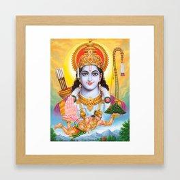 Lord Shree Ram Krishna Buddism Yoga Meditation Hindu Art Framed Art Print