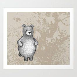 grizzly bear in foliage Art Print