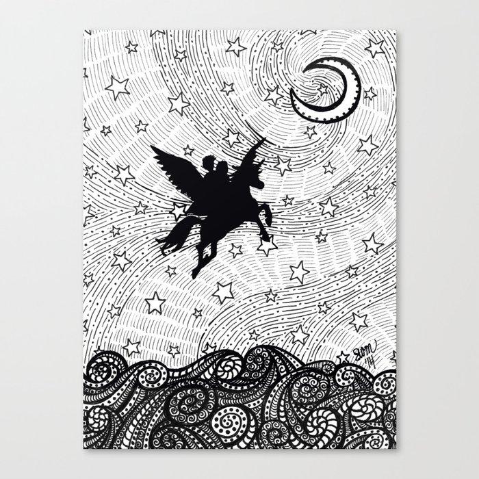 Flight of the alicorn Leinwanddruck