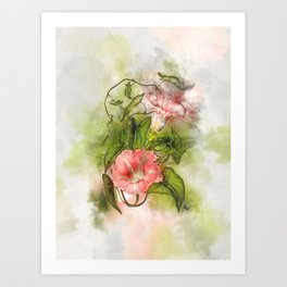 Blossom Pink #floral #watercolor #society6 Art Print