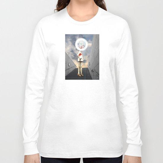 Crazy Woman - Wall head Long Sleeve T-shirt