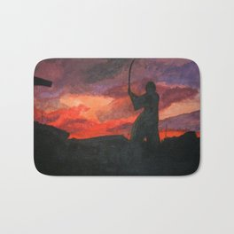 Samurai Sunset Bath Mat