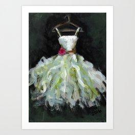 Ballerina White Dress Art Print