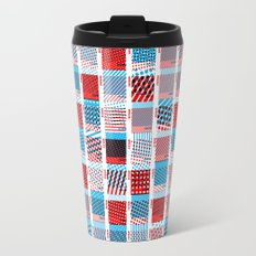 Halftone Moiré - Red & Blue Travel Mug