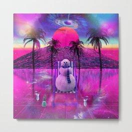 Dreams of a Snowman Metal Print